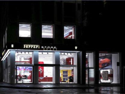 Ferrari Store Mailand. <br>Massimo Iosa Ghini. 2005