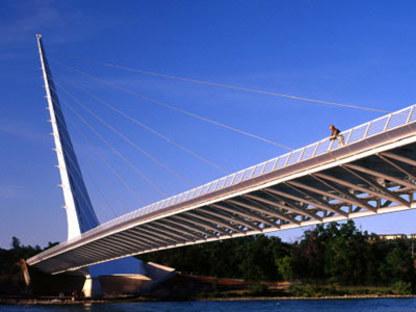 Sundial Bridge. Redding (Kalifornien). Santiago Calatrava. 2004