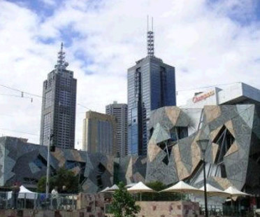 Federation Square, Lab Architecture.<br /> Melbourne, Australien. 2002