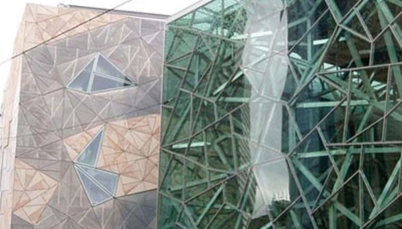 Federation Square, Lab Architecture.<br /> Melbourne, Australien. 2002