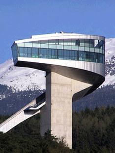 Sprungschanze, Zaha Hadid. Bergisel (Österreich). 2002