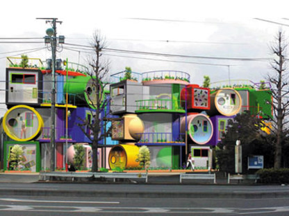 Reversible destiny lofts. Tokyo. Shusaku Arakawa und Madeline Gins. 2005