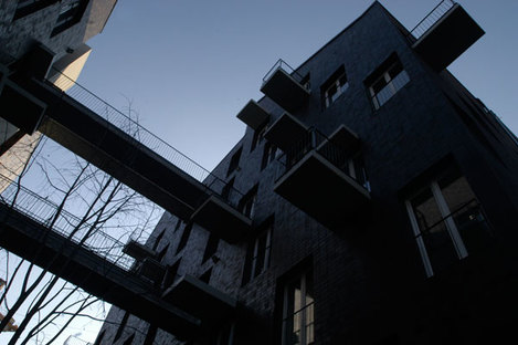 Dynamismus des Musters auf den Fassaden