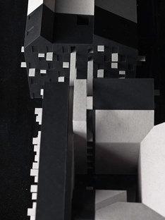 Maquette, dunkle neu gebaute Teile