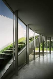 Die Treppe zum Dachgarten