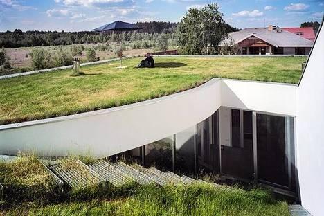 Ausschnitt vom Dach zum Wohnzimmer