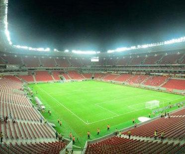 Brasilien 2014. Die neuen Stadien für die Fußball-Weltmeisterschaft.