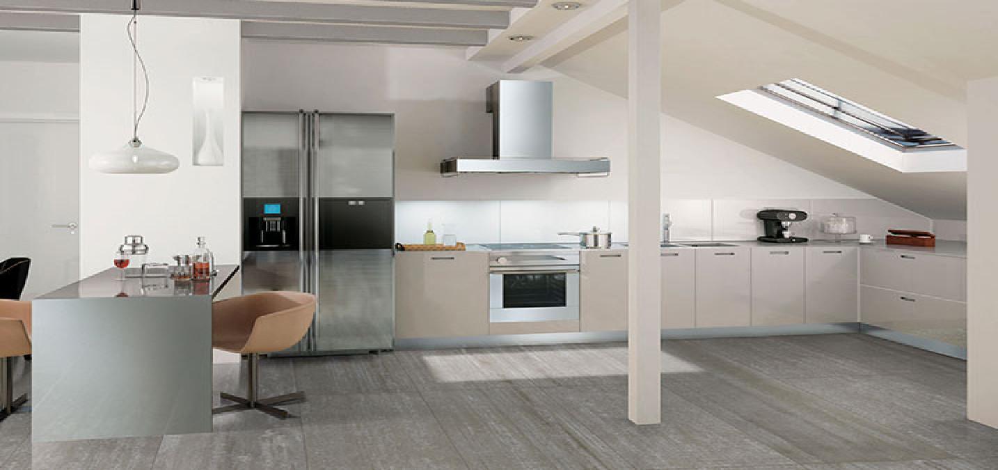 loesungen fuer kueche und wohnzimmer rustikal oder modern floornature. Black Bedroom Furniture Sets. Home Design Ideas