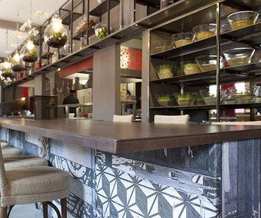 Antibakterielle Keramik Active im Restaurant Evviva in Riccione
