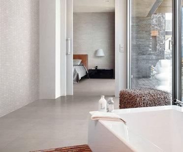 Das ideale Bad mit Oberflächen aus Feinsteinzeug