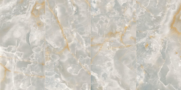 Ultra Ariostea: großformatige Steingutfliesen Onyx und Metall