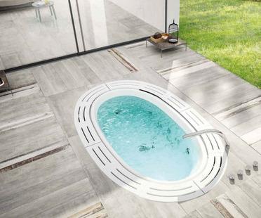 Iris zur Gestaltung von Außenbereiche mit Keramik