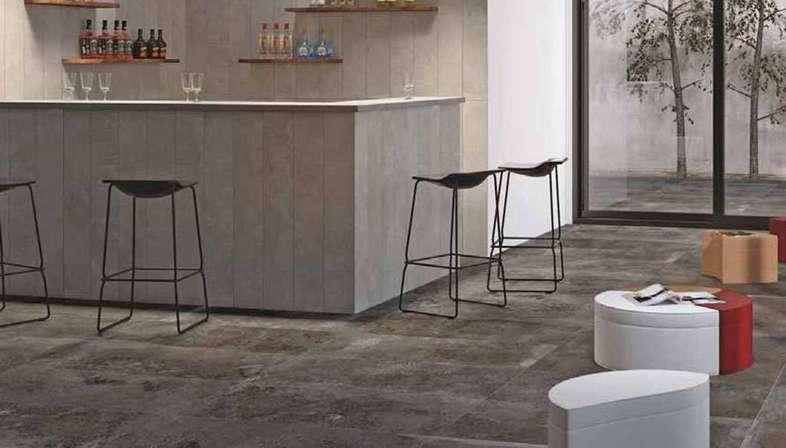 Zeitgenössische Räume mit Feinsteinzeugfliesen von Stonepeak