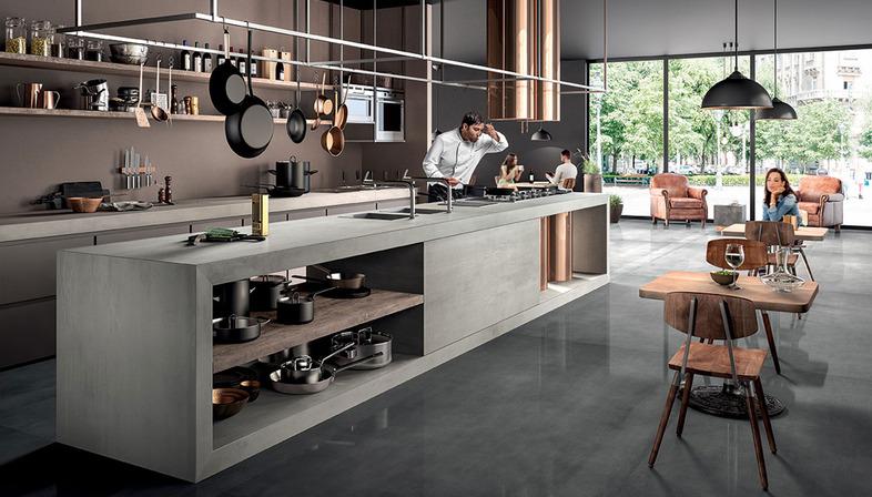 sapienstone die ideale kuechenarbeitsplatte ist aus feinsteinzeug floornature. Black Bedroom Furniture Sets. Home Design Ideas