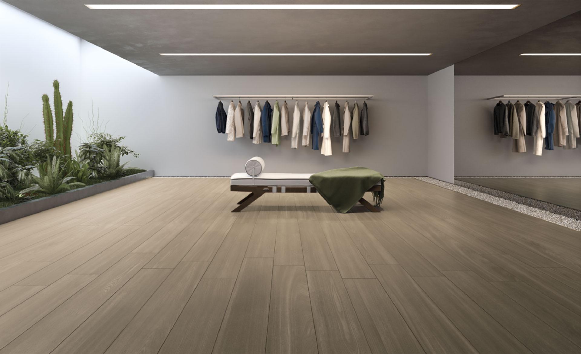 Wärme und Helligkeit für Fußböden 2018 in der Holzoptik Deck von Iris Ceramica