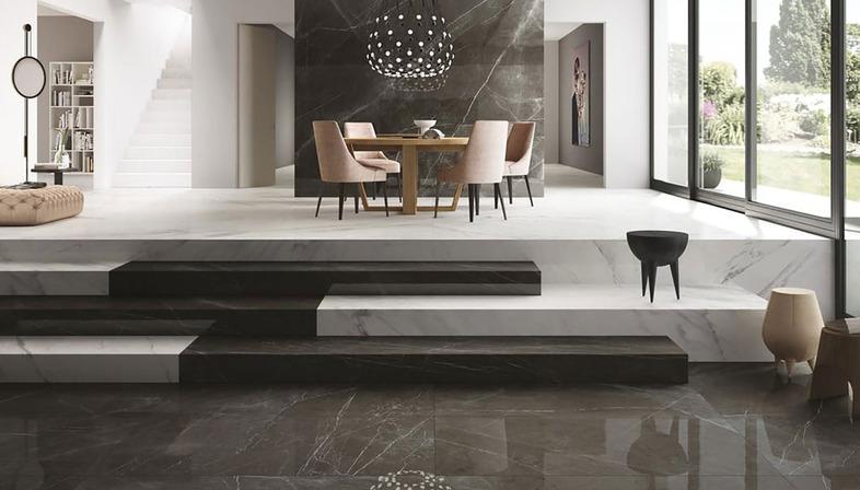Großformatige Fußböden in Marmoroptik Maximum GranitiFiandre