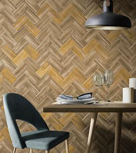 Kreativität und Harmonie: Verkleidungen Litt Wood von Iris Ceramica in Holzoptik