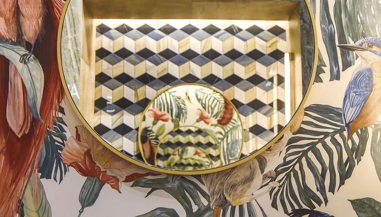 Räumlichkeiten verzieren und persönlich gestalten: Die Technologie DYS auf den Keramikplatten Fiandre