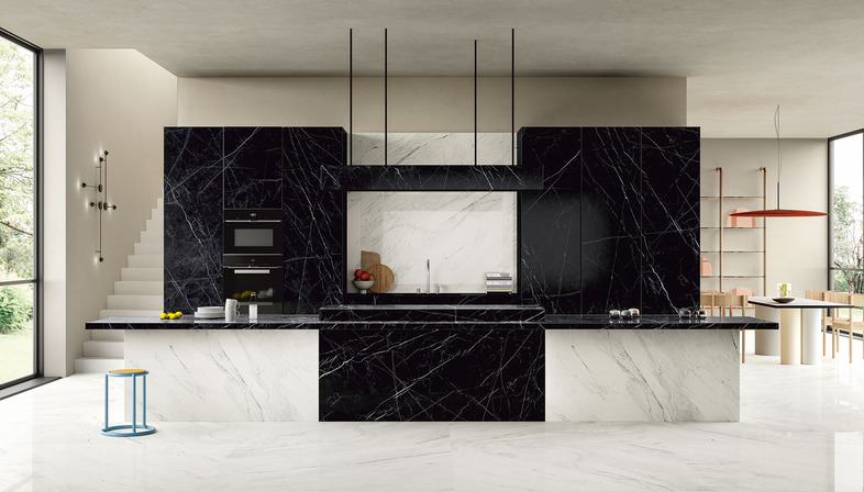 Dunkle Küchenarbeitsplatten für alle Stile der Gegenwartsküche