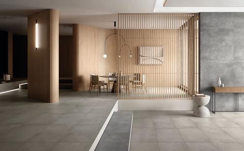 Ariostea Next: Zement und Harz für die Gestaltung zeitgenössischer Umgebungen
