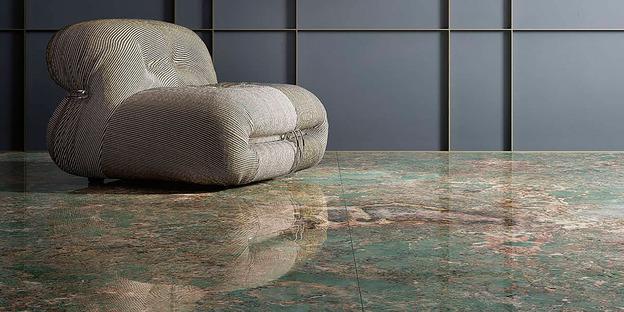 Große Keramikplatten Fiandre: der Charme des Wassergrüns von Amazonite