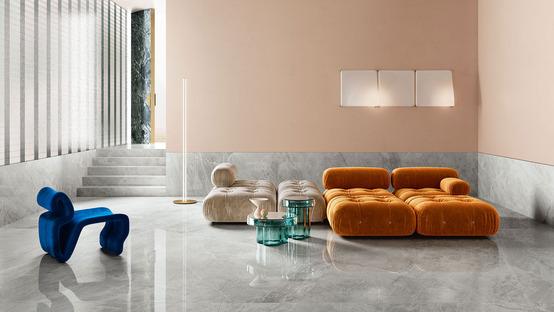 Neue Marmorsorten Maximum: vielseitige Umgebungen und maßgefertigte Einrichtungselemente