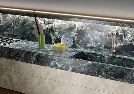 Alpi Chiaro Venato: Praktische Eleganz in der Küche mit den Arbeitsplatten SapienStone