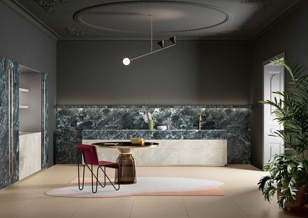 Schwarz und Grün, Trendfarben in der Küche: Black Diamond und Alpi Chiaro Venato von SapienStone