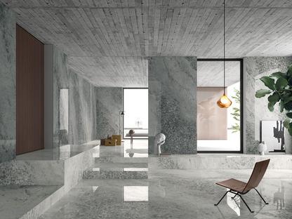 Neue keramische Verkleidungslösungen: die natürliche Dekoration von Mineralien