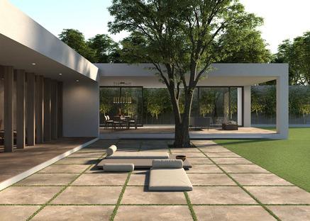 Natürlich und elegant: Die Outdoor-Kollektionen von Porcelaingres in Stein, Zement und Holz