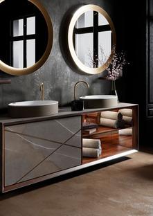 """Die Kraft und Schönheit der technischen Keramik im modernen Bad: das exklusive Einrichtungssystem """"Seventyonepercent"""""""