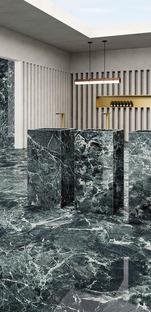 Grün, die Trendfarbe für Wandverkleidungen und Möbel: Die Faszination des Marmors von Fiandre