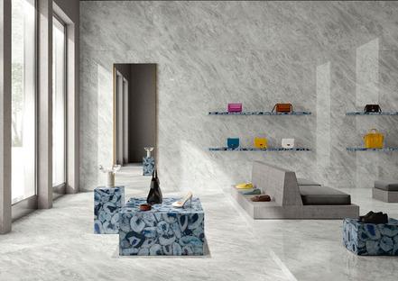 Der Charme und die Schönheit der großformatigen Keramik: die neuen Marmorsorten von Iris Ceramica Group