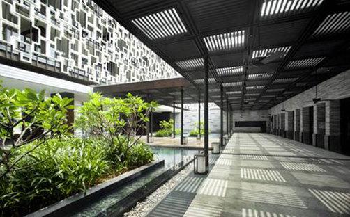 Resort, Insel Hainan (Hainan Dao), China. Entwurf: WOHA.