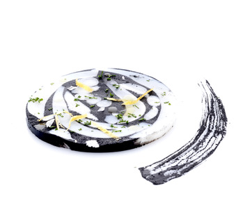 Come si prepara il Mosaico di seppia nel suo inchiostro
