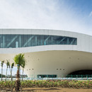 Baudetails des Kunstzentrums in Kahosiung nach dem Entwurf des Büros Mecanoo