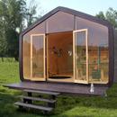 Haus aus Karton und Holz Wikkelhouse
