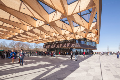 Holztragwerk für das neue Torhaus vom Keukenhof - Mecanoo Architecten