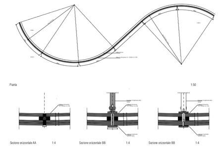 Heißgeformte Wärmedämmverglasung für die Bibliothek von Maranello nach dem Entwurf von Andrea Maffei Associati