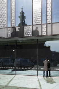 Altes Glas neu aufgelegt beim Bahnhof in Delft von Mecanoo