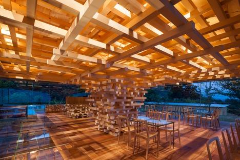 Baumstruktur für das Coeda House von Kengo Kuma