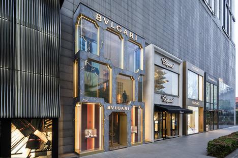Der Bulgari Shop in Kuala Lumpur, GRC und LED von MVRDV