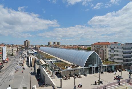 Der Ausbau des Bahnhofs von Montpellier aus ETFE, von AREP