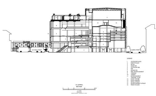 Multimedia-Fassade und kristalline Fenster für Iluma von WOHA