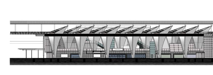 Kris Yao | ARTECHS' Hochgeschwindigkeitsbahnhof mit Hohlsäulen in Changhua