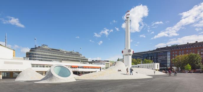 Die Zementkuppeln des Amos Anderson Art Museum von JKMM in Helsinki