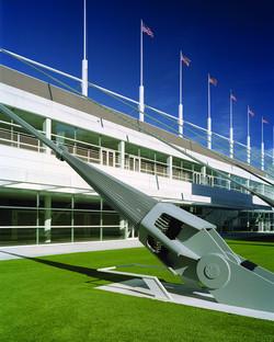 Stahlseilstruktur für das David Lawrence Center von Rafael Viñoly