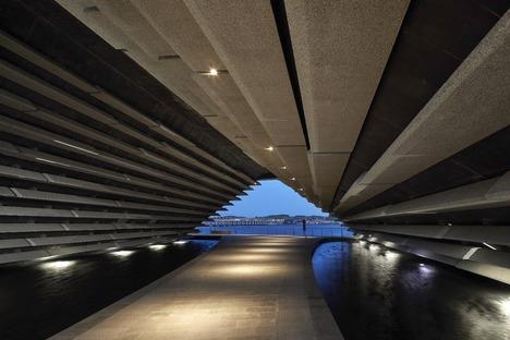 Fassade mit Beton-Sonnenschutz für das V&A Dundee Museum