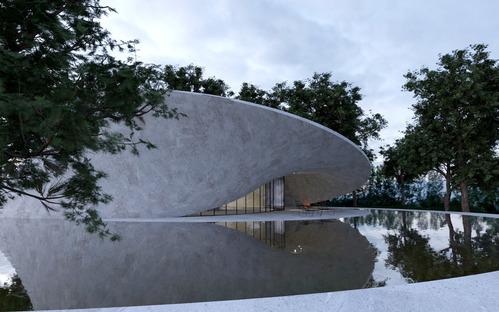Mobius House von Gibbons Design aus Hanfziegeln und Stahlbeton
