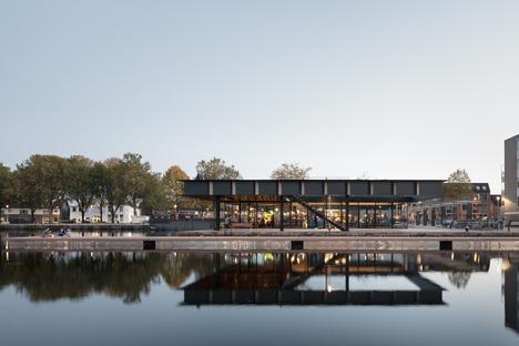Stahlpavillon mit Vierendeel-Trägern in Tilburg von CIVIC